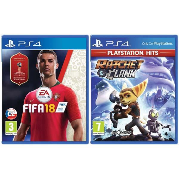 FIFA 18 CZ [PS4] + Ratchet & Clank [PS4] - BAZÁR (použitý tovar) zmluvná záruka 12 mesiacov