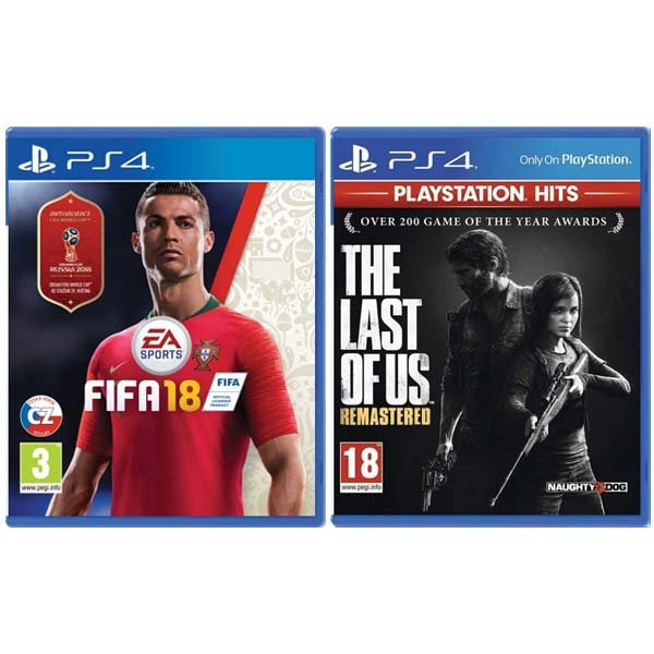 FIFA 18 CZ [PS4] + The Last of Us: Remastered CZ [PS4] - BAZÁR (použitý tovar), zmluvná záruka 12 mesiacov