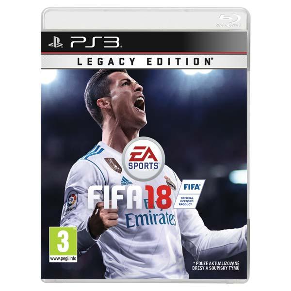 FIFA 18 (Legacy Edition) [PS3] - BAZÁR (použitý tovar)