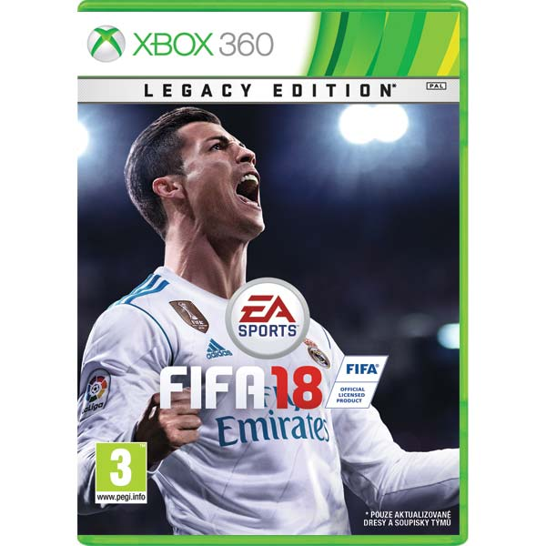FIFA 18 (Legacy Edition) [XBOX 360] - BAZÁR (použitý tovar)