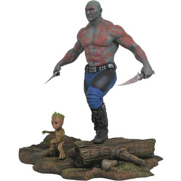Fgúrka Marvel Movie Gallery Avengers  Guardians of the Galaxy 2 Drax & Baby Groot PVC Diorama