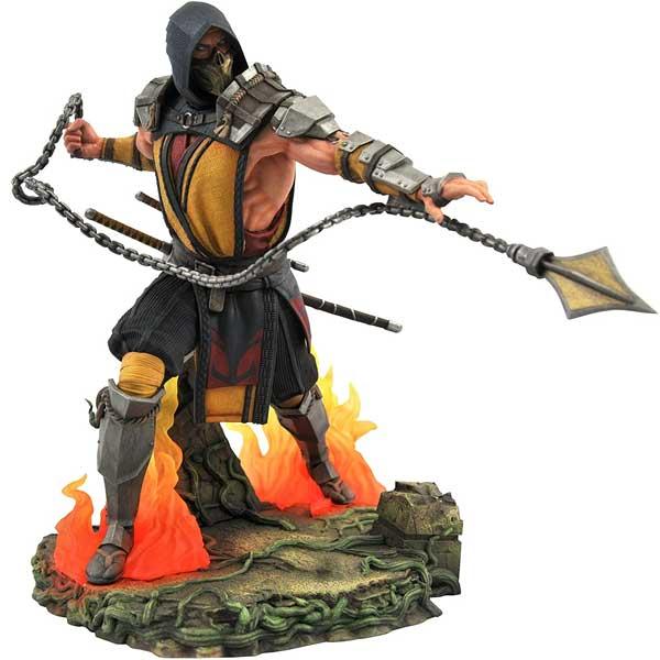 Figúrka Mortal Kombat Gallery Scorpion Deluxe PVC Diorama