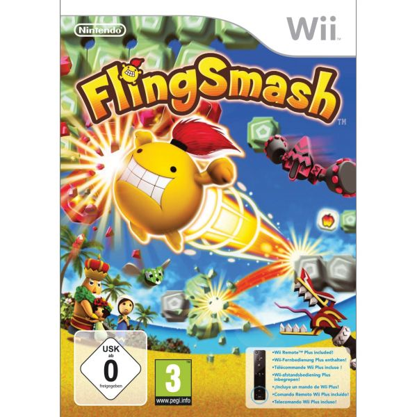 FlingSmash + Nintendo Wii Remote Controller Plus, black