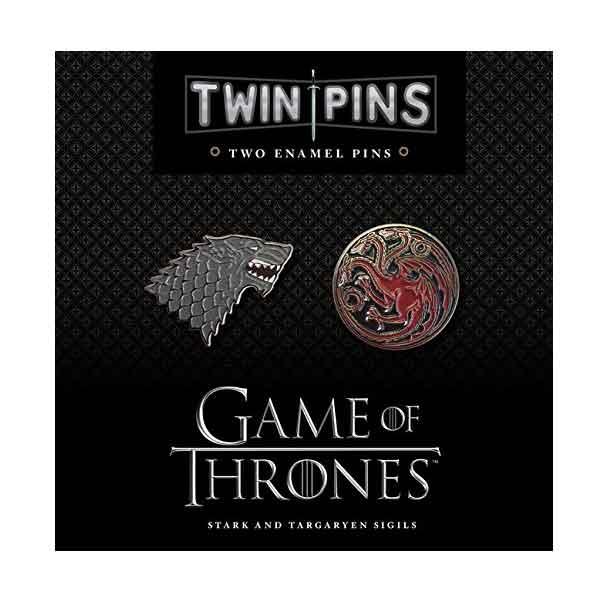 Game of Thrones Odznaky House Stark and Targaryen (2-Pack) CH164281