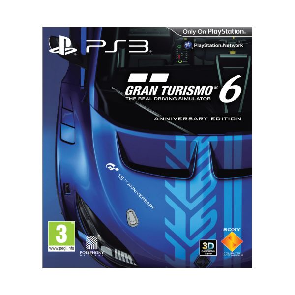 Gran Turismo 6 CZ (Anniversary Edition) [PS3] - BAZÁR (použitý tovar)