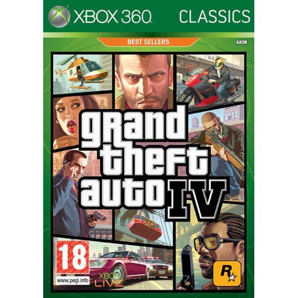 Grand Theft Auto 4- XBOX 360- BAZÁR (použitý tovar)