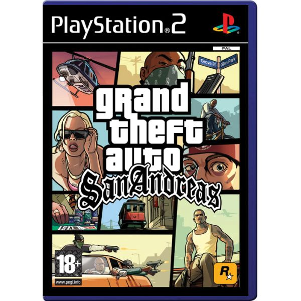 Grand Theft Auto: San Andreas [PS2] - BAZÁR (použitý tovar)