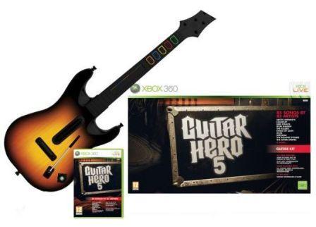 Guitar Hero 5 + gitara [XBOX 360] - BAZÁR (použitý tovar)