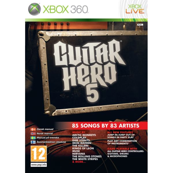 Guitar Hero 5 [XBOX 360] - BAZÁR (použitý tovar)