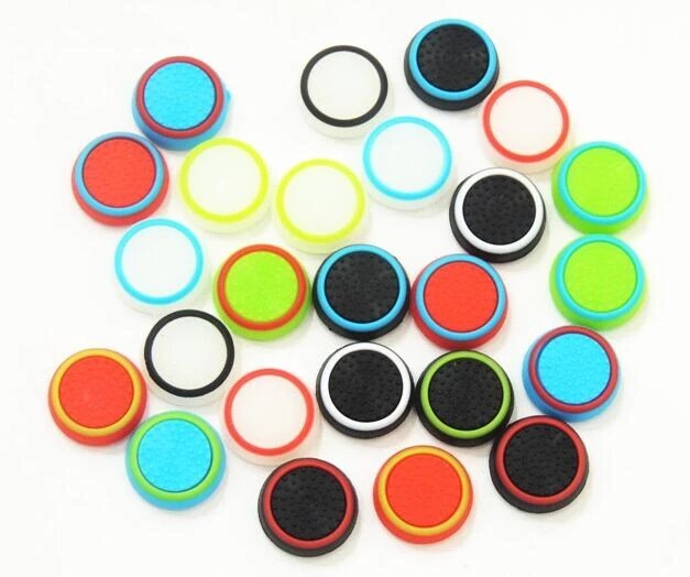 Gumené návleky na tlaèidlá pre gamepad v3, farebné krúžky