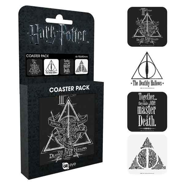 Harry Potter Deathly tácky pod poháre (4-Pack)