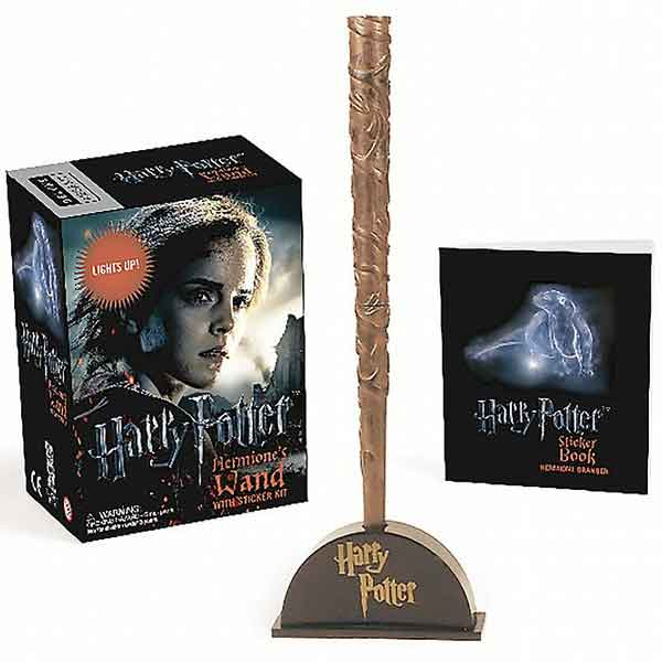 Harry Potter Hermione's Wand with Sticker Kit: Lights Up! (Miniature Editions)