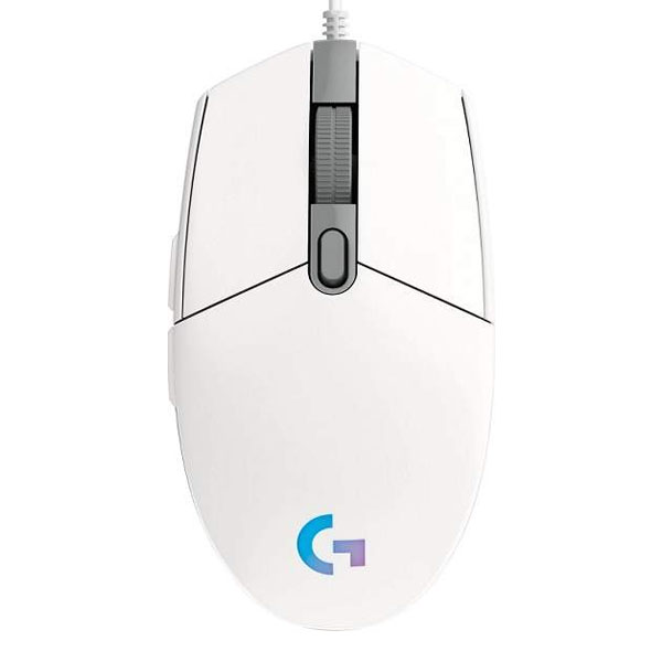 Herná myš Logitech G102 Lightsync Gaming Mouse, biela