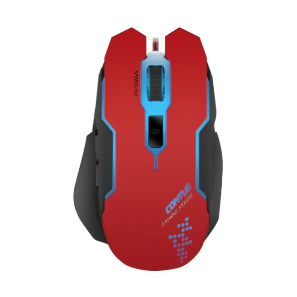 Herná myš Speedlink Contus Gaming Mouse, èierno-èervená