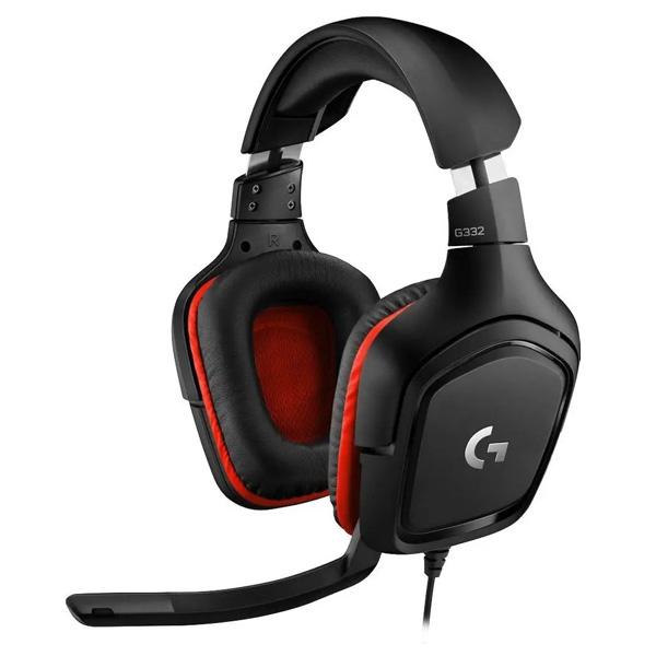 Herné slúchadlá Logitech G332 Leatheratte Stereo Gaming Headset, red