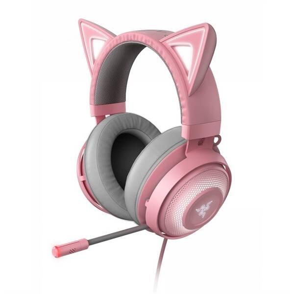 Herné slúchadlá Razer Kraken Kitty ružové RZ04-02980200-R3M1