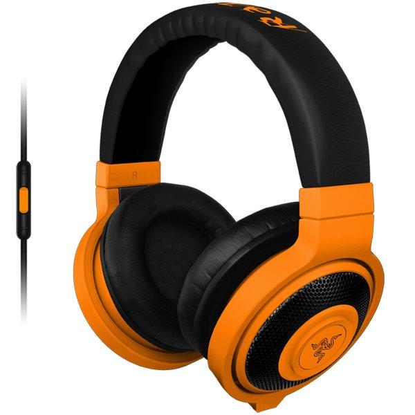 Herné slúchadlá Razer Kraken Mobile, oranžové