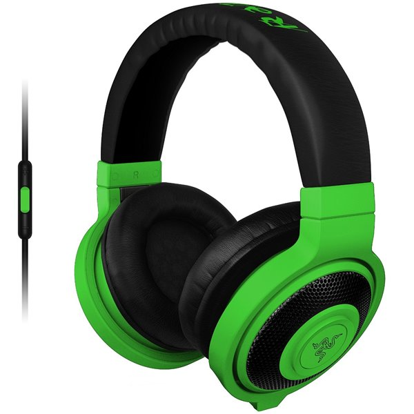 Herné slúchadlá Razer Kraken Mobile, zelené
