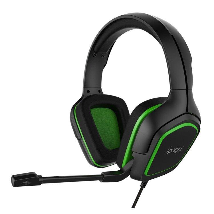 Herné slúchadlá s mikrofónom iPega R006, Green