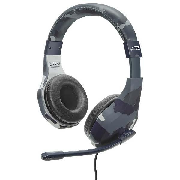 Herné slúchadlá Speedlink Raidor Stereo Headset pre PS4, modré