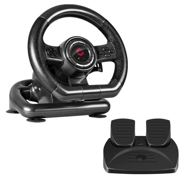 Herný volant Speedlink Black Bolt Racing Wheel pre PC SL-650300-BK