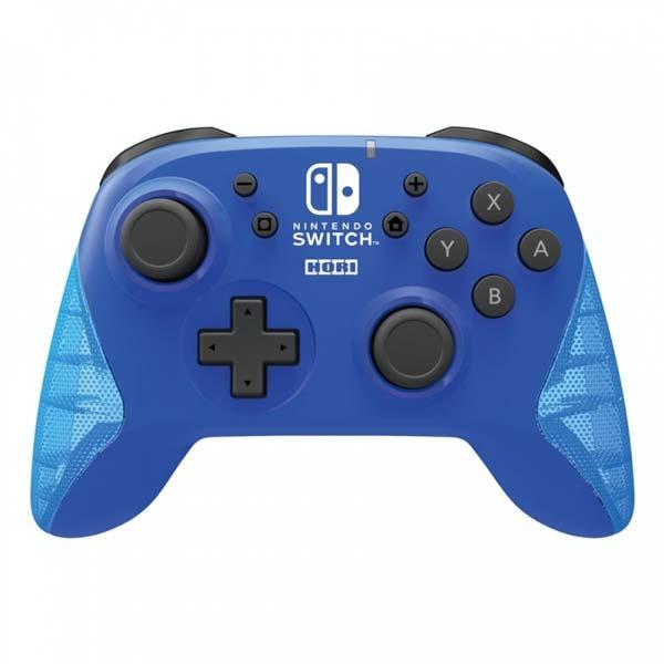 HORI Horipad bezdrôtový nabíjateľný ovládač pre konzoly Nintendo Switch, modrý NSW-174U