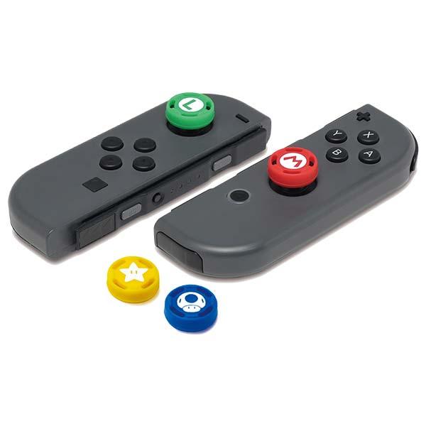 HORI Joy-Con gumené návleky na analógové páčky (Super Mario)
