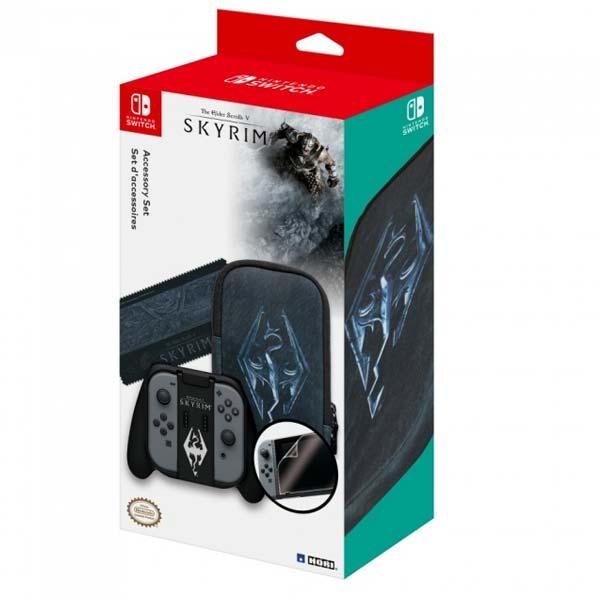 HORI Skyrim ochranná sada pre konzoly Nintendo Switch, čierna