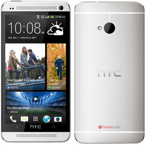 HTC ONE - M7, 32GB   Silver, Trieda B - použité, záruka 12 mesiacov