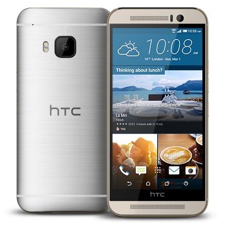 HTC ONE - M9, Gold on Silver - Trieda B - použité, záruka 12 mesiacov