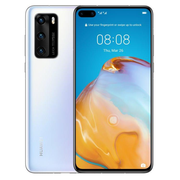 Huawei P40 5G, 8/128GB, Dual SIM, Ice White - SK distribúcia 51095EJB