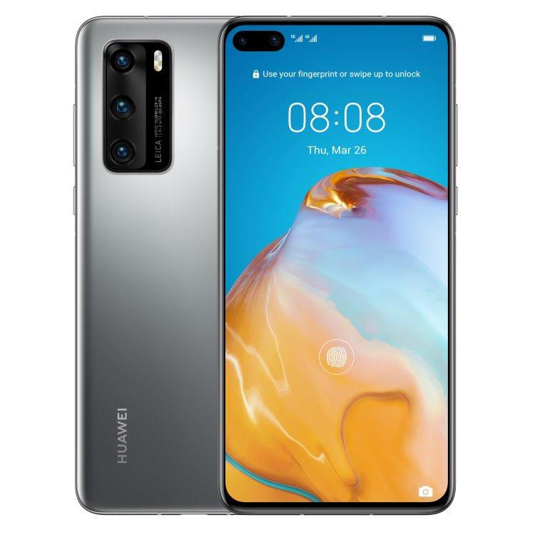 Huawei P40 5G, 8/128GB, Dual SIM, Silver Frost - SK distribúcia 51095CAA