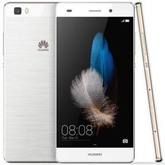 Huawei P8, 16GB   Titanium White, Trieda A - použité, záruka 12 mesiacov
