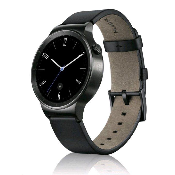 Huawei Watch, Black Leather