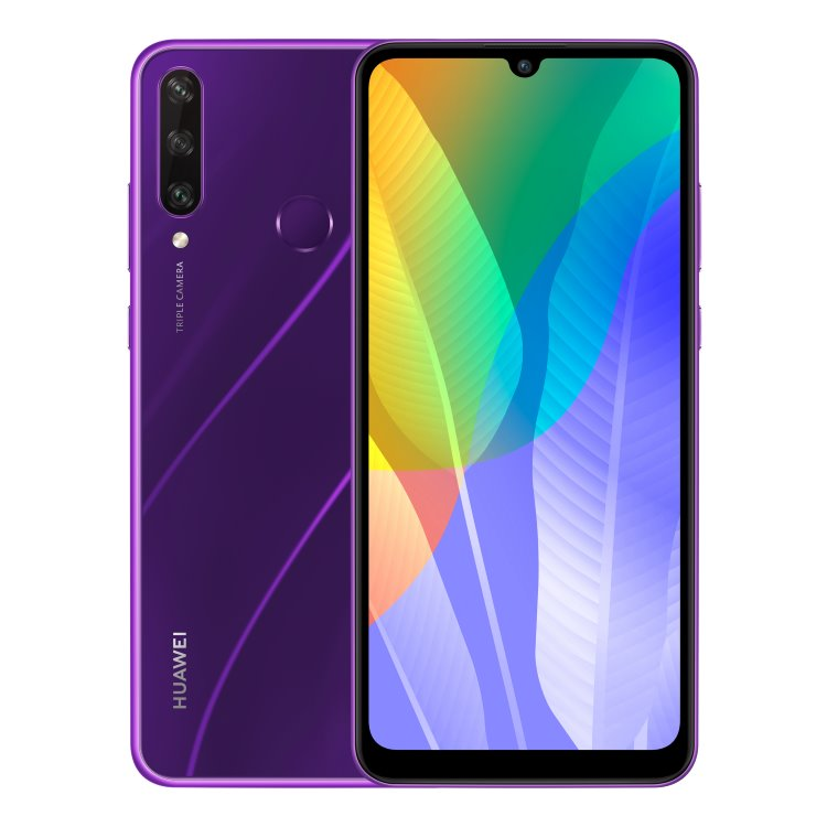Huawei Y6p, phantom purple