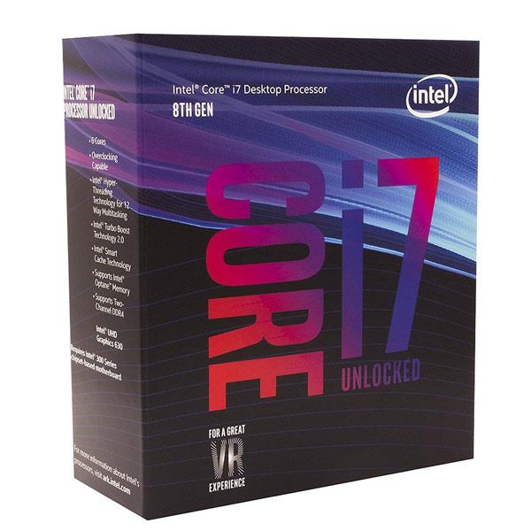 INTEL Core i7-8086K (3,7Ghz / 12MB / Soc1151 / VGA) Box