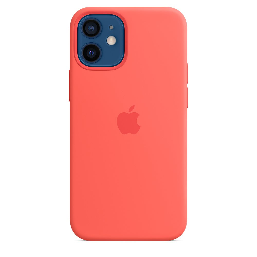 Apple iPhone 12 mini Silicone Case with MagSafe, pink citrus MHKP3ZM/A