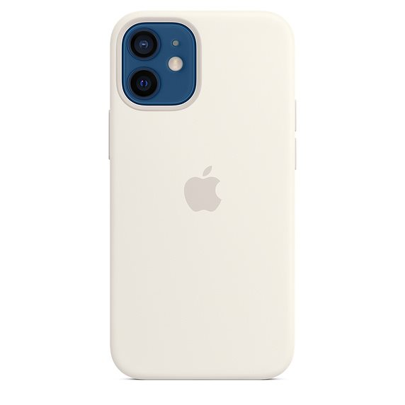 Apple iPhone 12 mini Silicone Case with MagSafe, white MHKV3ZM/A