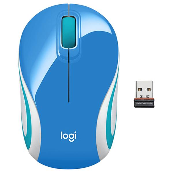 Kancelárska myš Logitech Wireless Mini Mouse M187, blue 910-002733