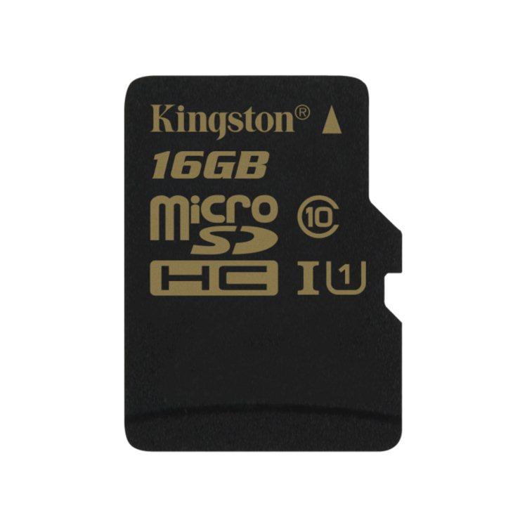 Kingston Micro SDHC 16GB, UHS-I, Class 10 - rýchlosť čítania 90 MB/s, zápisu 45 MB/s (SDCA10/16GBSP)