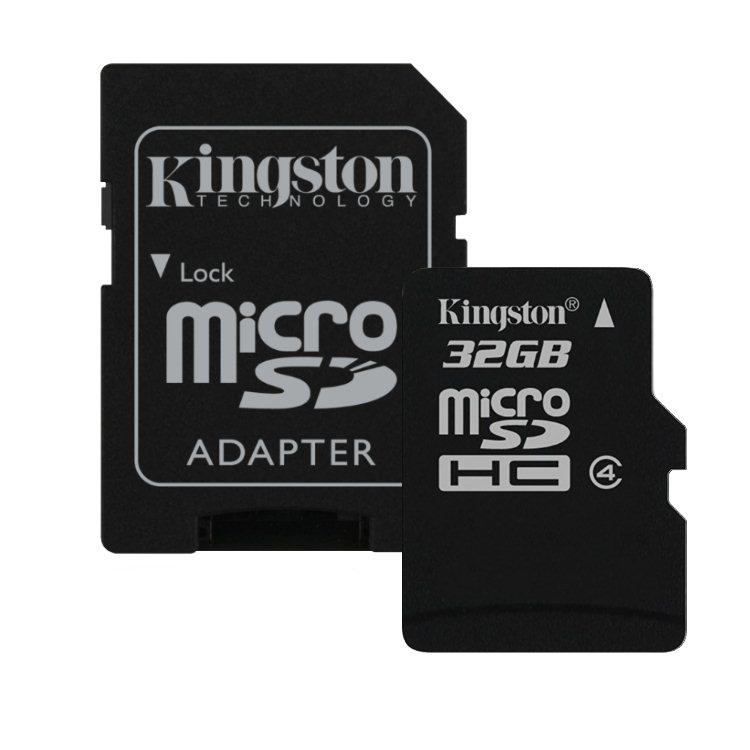 Kingston Micro SDHC 32GB + SD adaptér, Class 4 (SDC4/32GB)