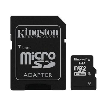 Kingston Micro SDHC 8GB + SD adaptér, Class 4 - rýchlosť 14 MB/s (SDC4/8GB)  - OPENBOX (rozbalený tovar s plnou zárukou)