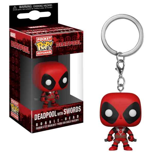 Kľúčenka Pocket POP! Deadpool with Swords a790ded87fd