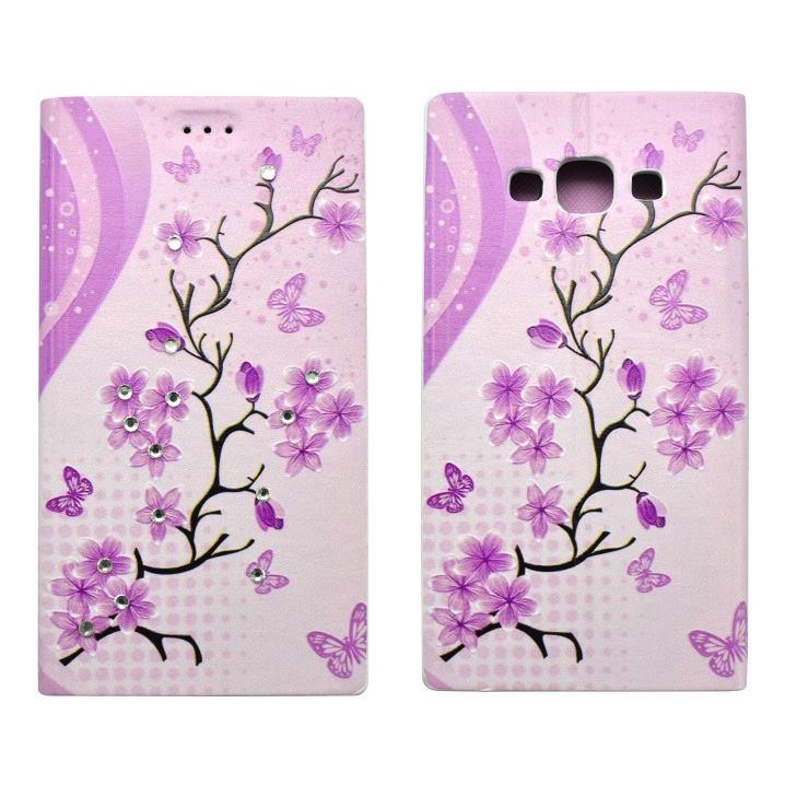 Knižkové puzdro pre Samsung Galaxy A5 - A500F, vzor kvety