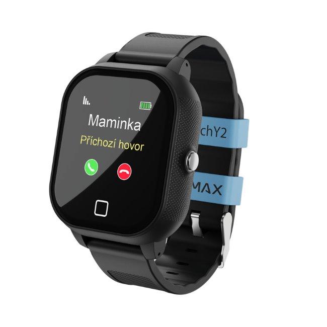 LAMAX WatchY2, detské smart hodinky s GPS, čierne