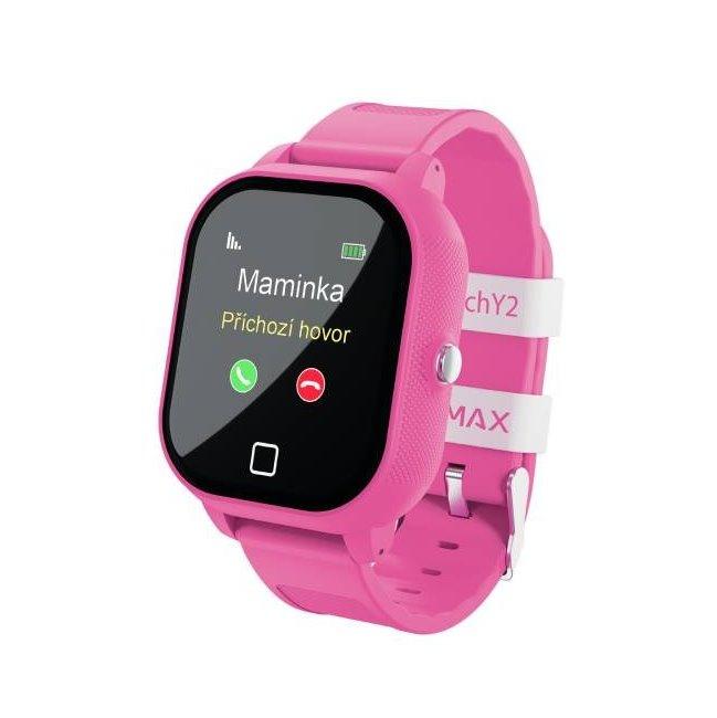 LAMAX WatchY2, detské smart hodinky s GPS, ružové