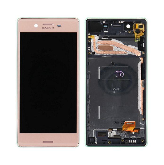 LCD displej + krycie sklo + dotyková plocha pre Sony Xperia X - F5121, Rose