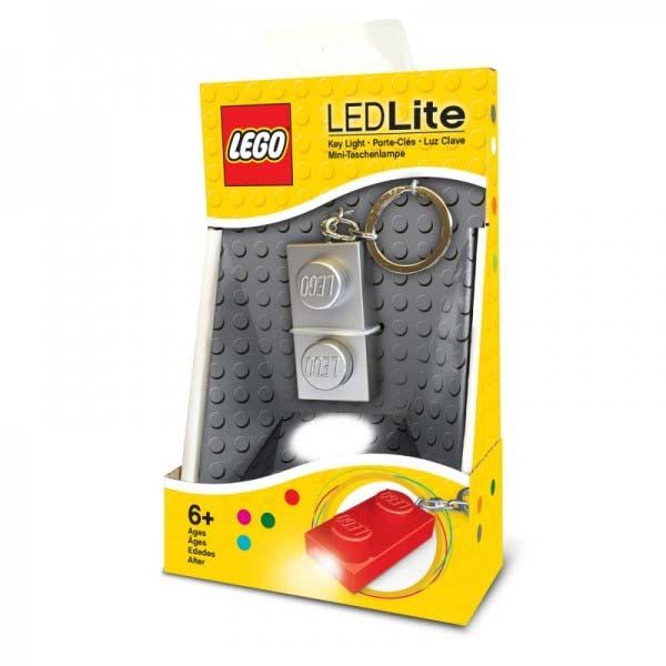LEGO 1x2 LED svietiaca kocka, strieborná