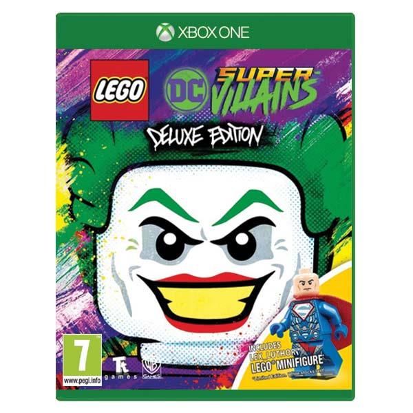 LEGO DC Super-Villains (Deluxe Edition) + LEGO minifigúrka Lexa Luthora XBOX ONE