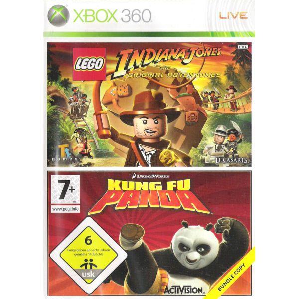 LEGO Indiana Jones: The Original Adventures + Kung Fu Panda [XBOX 360] - BAZÁR (použitý tovar)